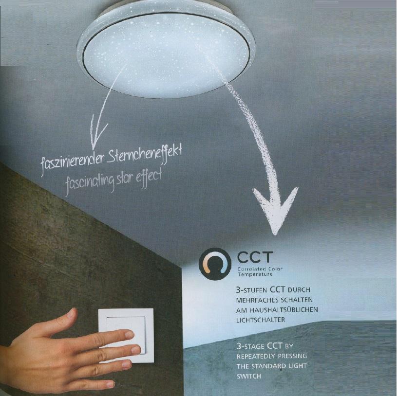 LED Deckenleuchte, Sternenhimmel, CCT- Lichtmamagement, D=35 o. 44cm
