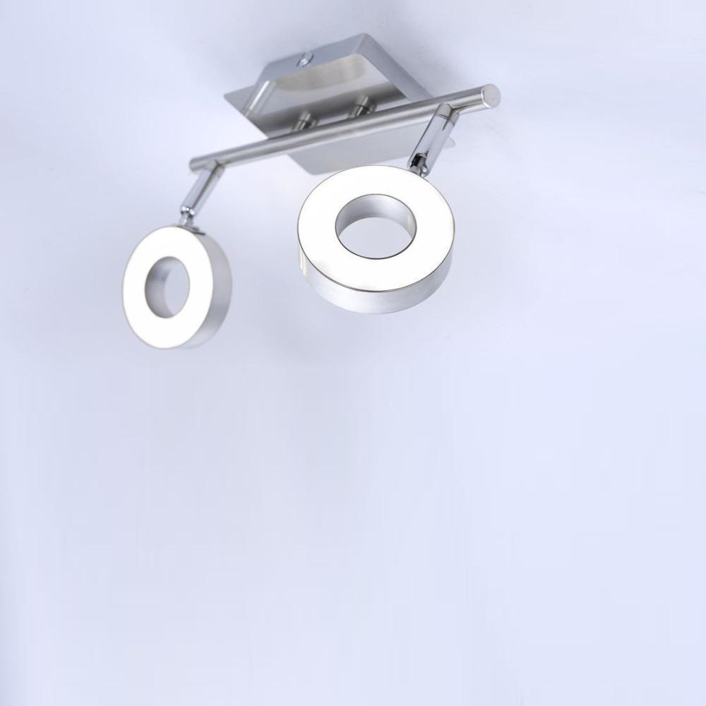 LED Deckenstrahler Lukas, 2 flammig, schwenkbar, warmweiß, modern