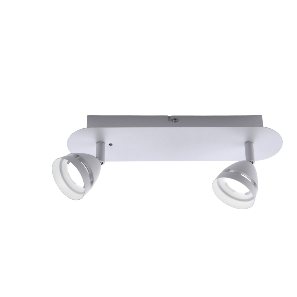 LED Deckenstrahler, 2-flg Smart Home, Lichtfarbe einstellbar, weiß