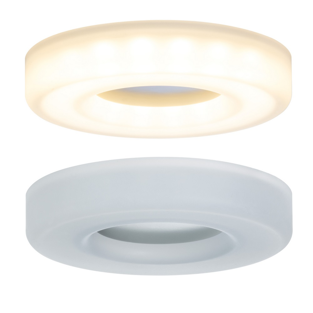 LED Einbauleuchten 3er Set Acrylweiß, je 5,5W
