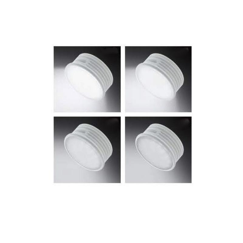 LHG LED Einbaustrahler, 5er Set, Nickel rund, 3fach dimmbar, LED inkl.