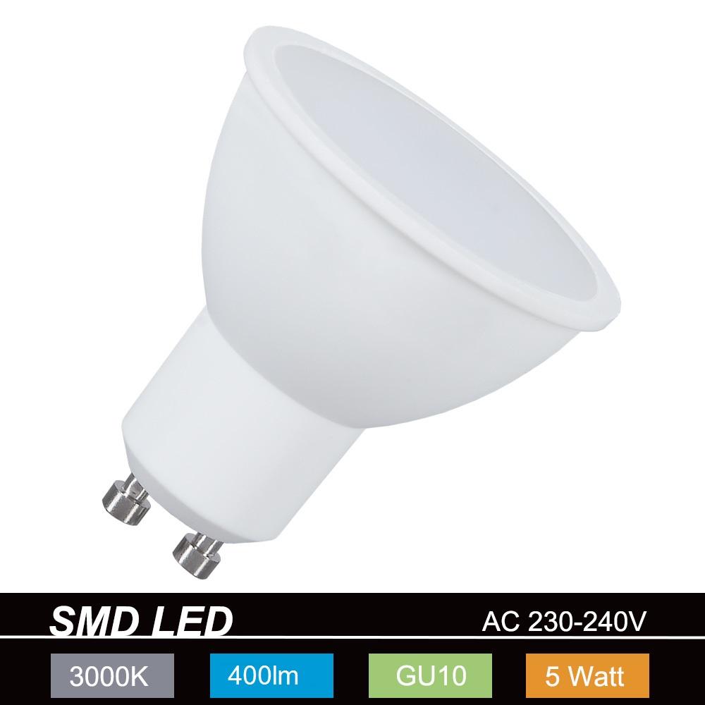 LED GU10 Strahler 5W 400lm, warmweiß 3000K