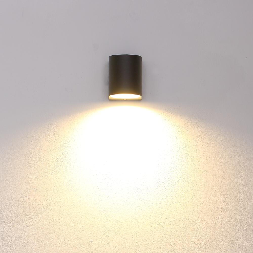 LHG LED Wandleuchte Außen, schwarz, Downlight, inkl. LED warmweiß