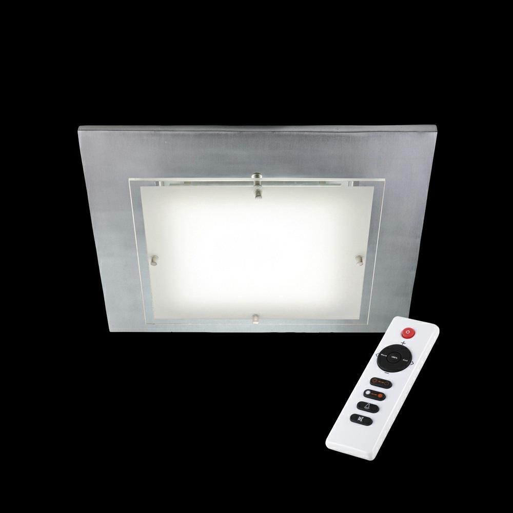 LED-Deckenleuchte mit Fernbedienung, Shine-Alu, 40x40cm