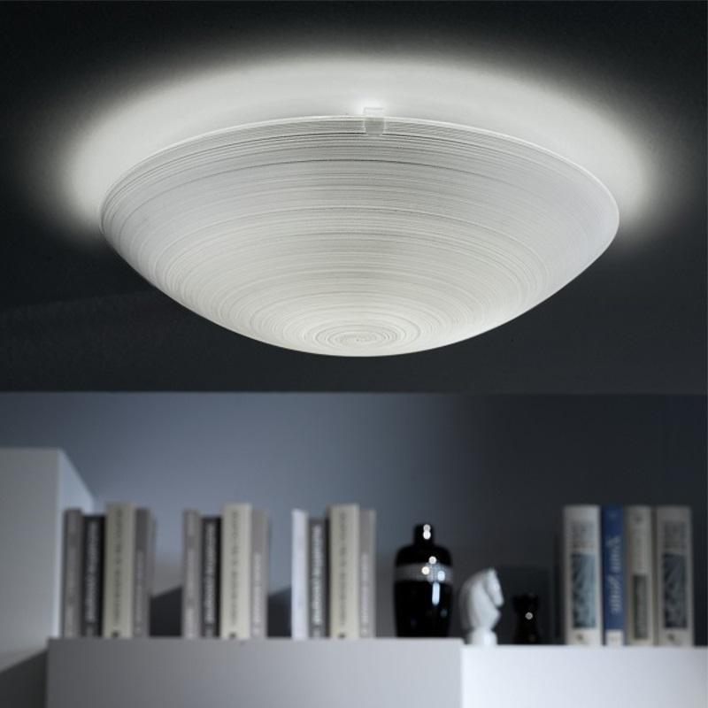 LED-Deckenleuchte rund, Wischtechnik Glas, LED austauschbar