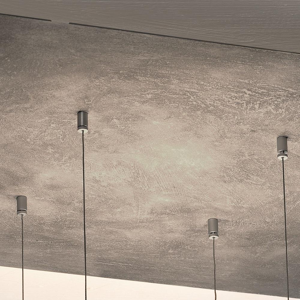 LED-Deckenleuchte Zen, Betonoptik, 60 x 60 cm