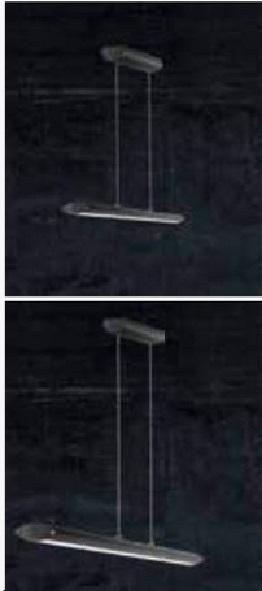 LED-Pendelleuchte in Alu-schwarz, Touchdimmer, in 2 Längen
