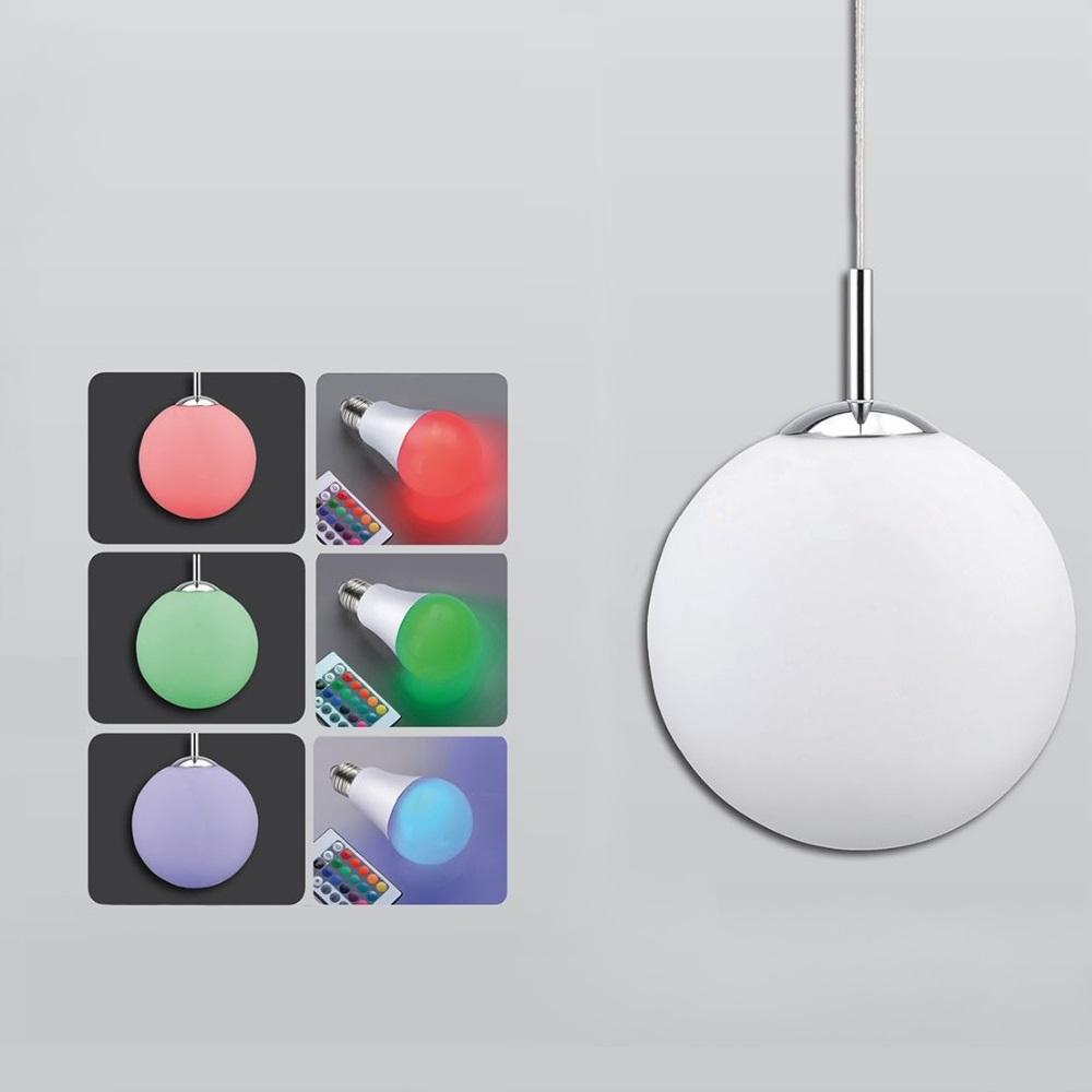 LED- Pendelleuchte Bolo Ø 40 cm mit RGB-Farbwechsel