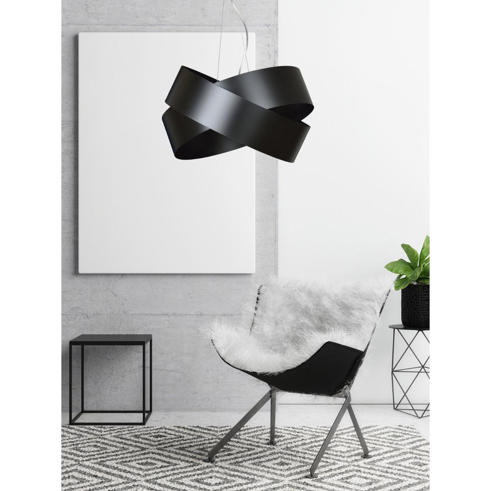 LHG Pendelleuchte Infinity, modern, Knoten, Metall schwarz, inkl. 2x LED E27 4,5 W
