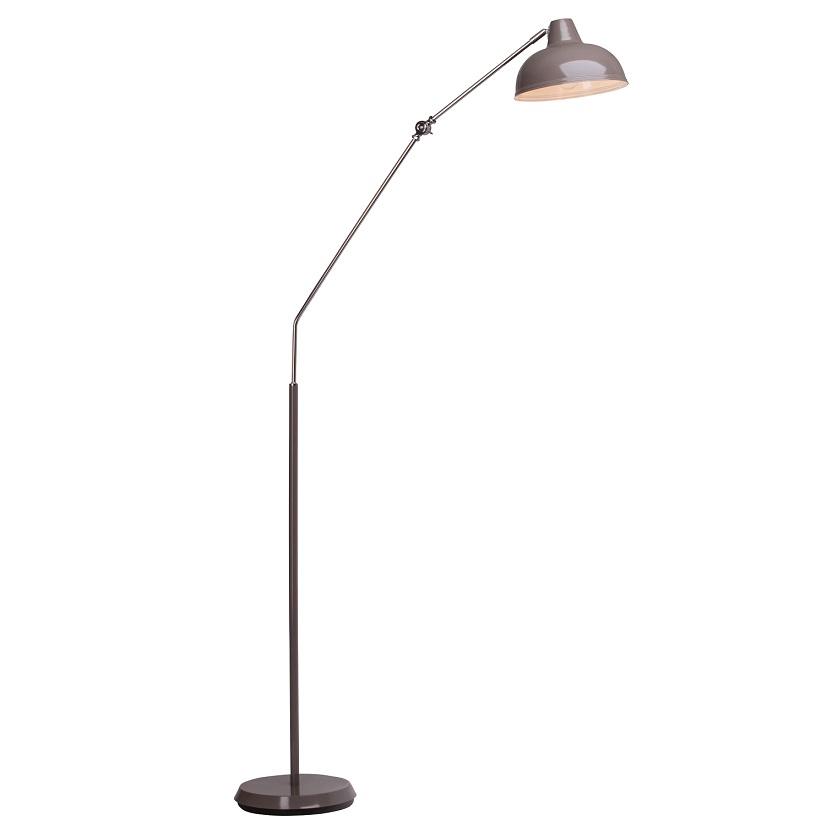 Moderne Stehleuchte aus Metall - Schwenkbarer Leuchtenarm - 3 Farben