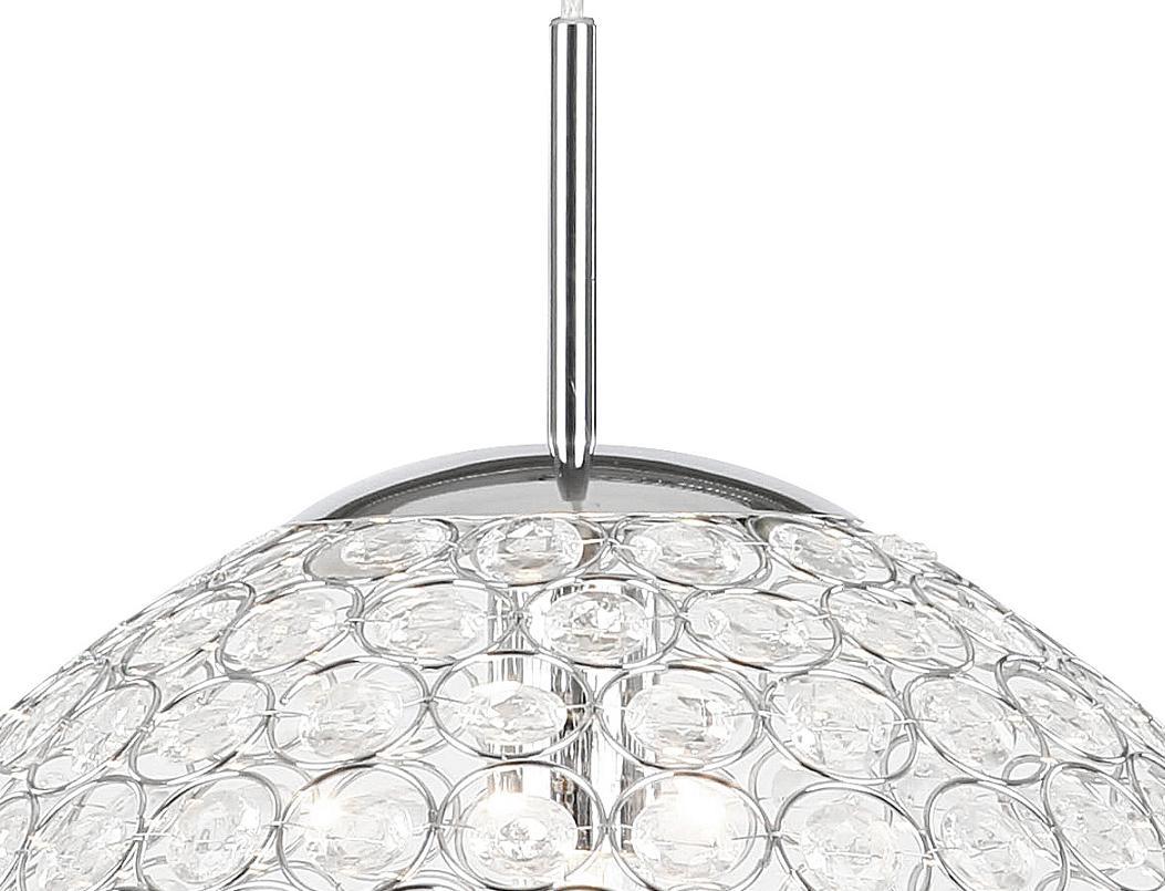 LHG Pendelleuchte mit Prismen aus klarem Acrylglas, 40 cm Durchmesser