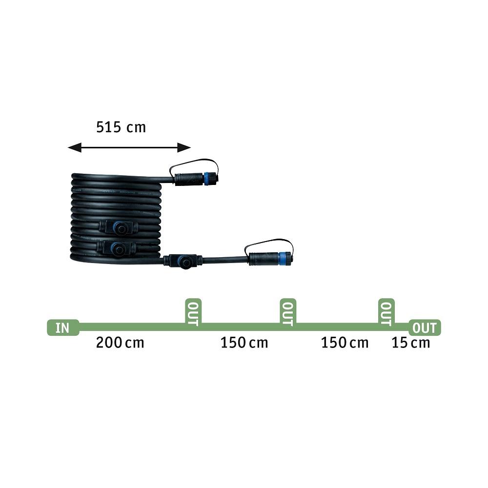 Plug & Shine 3-er Basisset Floor Mini IP65 3000K 3x2,5W
