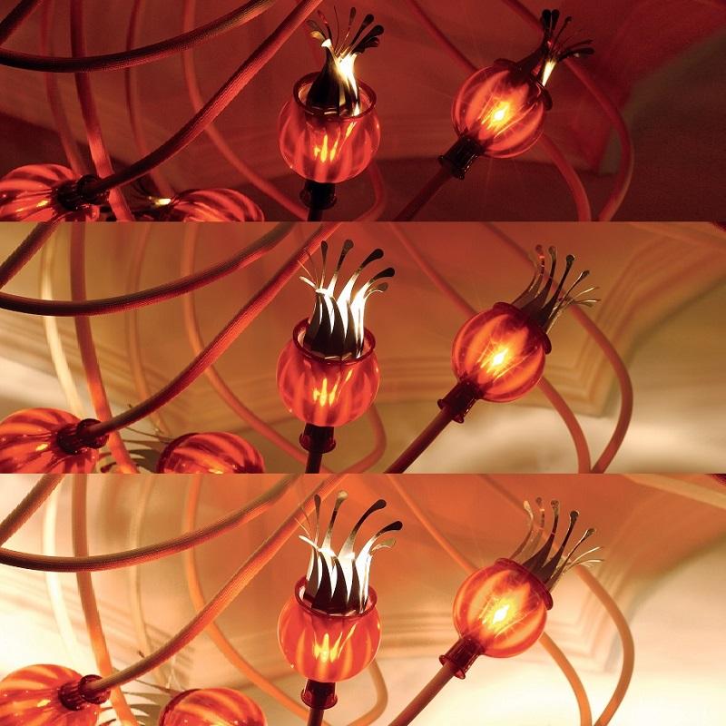 Serien-Lighting 5-flg Deckenleuchte Poppy Arme beige