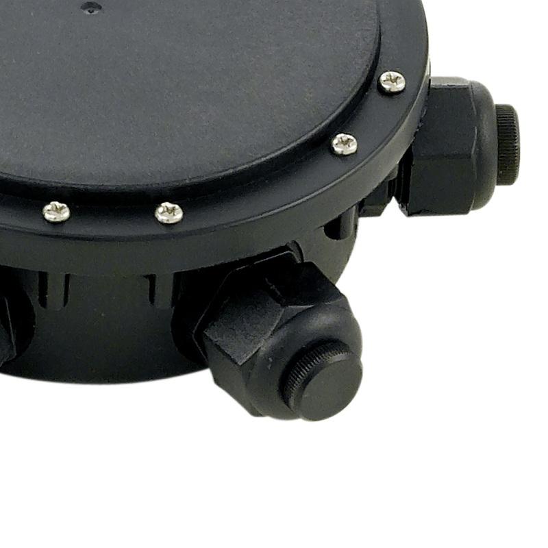 Verteilerbox 3-fach aus Kunststoff in Schwarz - IP 68
