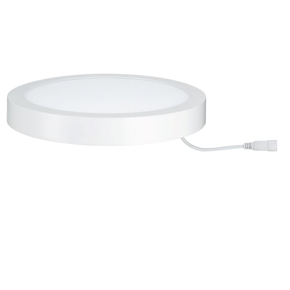 Weiße Deckenleuchte Lunar LED-Panel rund