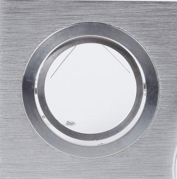 5-er Set 7W LED Decken-Einbaustrahler, Alu eckig, GU10, 9,1 x 9,1 cm