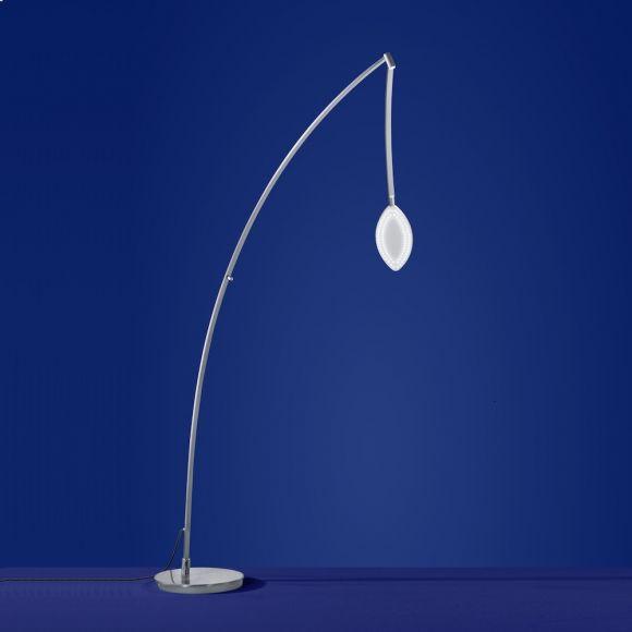 B-Leuchten LED-Stehleuchte Dribble in Nickel-matt/Chrom