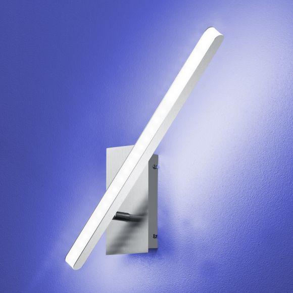 B-Leuchten LED-Wandleuchte Submarine Nickel-matt/Chrom