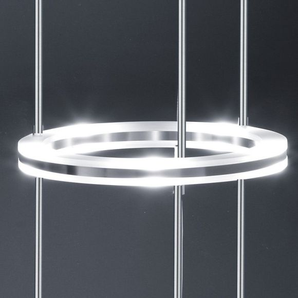 B-Leuchten moderne LED-Stehleuchte Mica mit Fußtrittdimmer