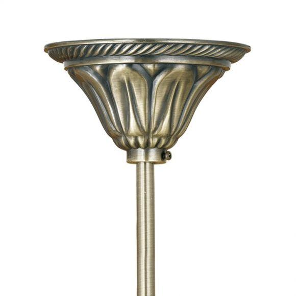 Deckenleuchte, Ø 37cm, Alabasterglas in champagner