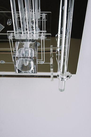 Deckenleuchte mit 62 weißen/blauen LEDs und Fernbedienung, inklusive Leuchtmittel