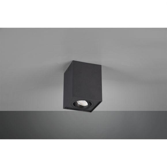 Deckenleuchte, schwenkbar, rechteckig, 1-flammig, schwarz