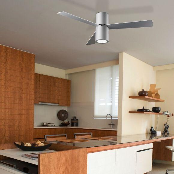 deckenventilator mit licht in grau matt inklusive fernbedienung 132cm durchmesser grau wohnlicht. Black Bedroom Furniture Sets. Home Design Ideas