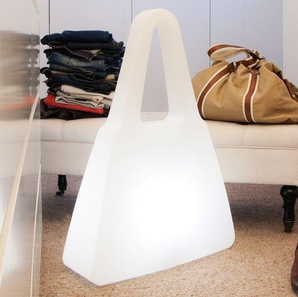 Dekoleuchte Shopping Bag in Weiß - Outdoor & Indoor