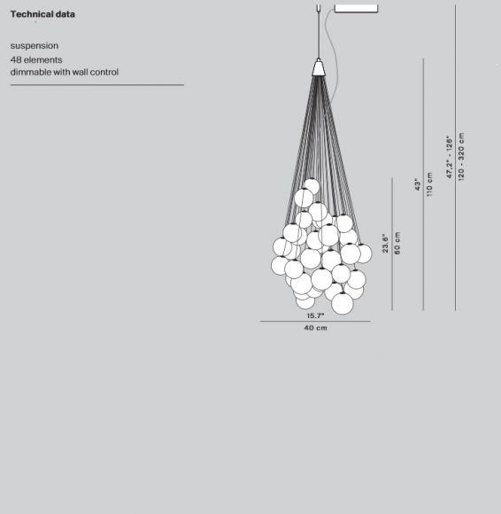 designer led pendelleuchte stochastic mit 50cm 72 kugeln in verspiegelter ausf hrung. Black Bedroom Furniture Sets. Home Design Ideas