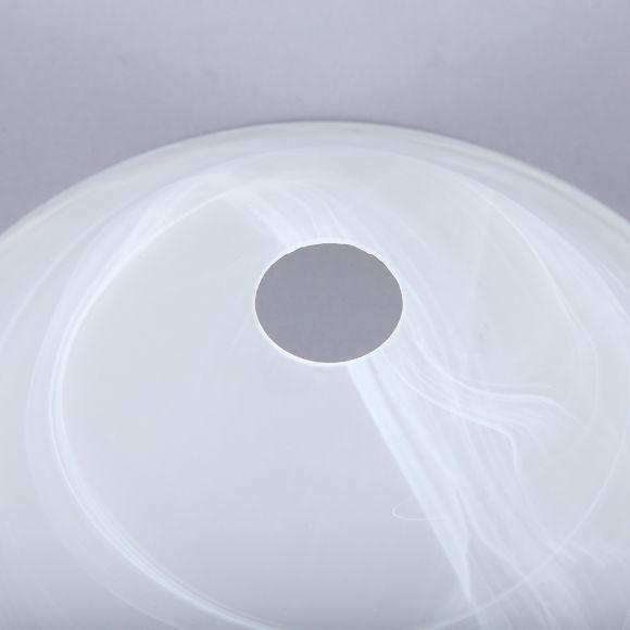 Ersatzglas Glas  33,5cm Alabaster Optik weiß