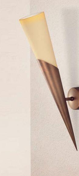 Klassische Wandfackel, 2-flammig, 3 Oberflächen