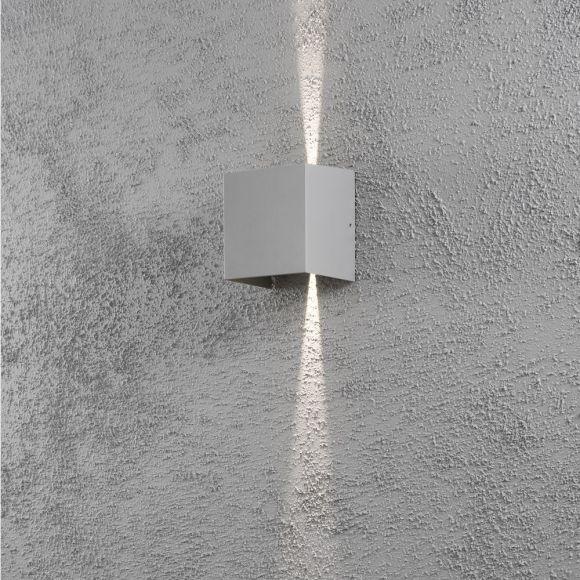 LED Außenwandleuchte Cremona  - Silbergrau oder Anthrazit