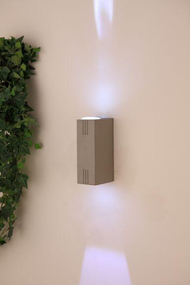 led au enwandleuchte aluminium druckguss led 2 x 3w 2 x 220 lumen kelvin wohnlicht. Black Bedroom Furniture Sets. Home Design Ideas