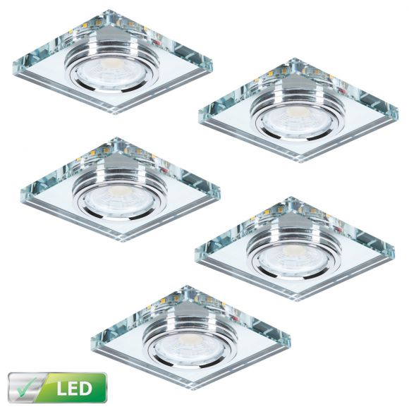 LHG LED 7W Deckeneinbau 5-er Set LED-Hintergrundbeleuchtung eckig