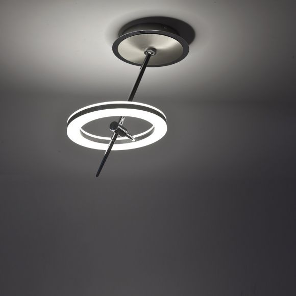 LED Deckenleuchte, Smart Home, Fernbedienung, RGBW, 2-flammig