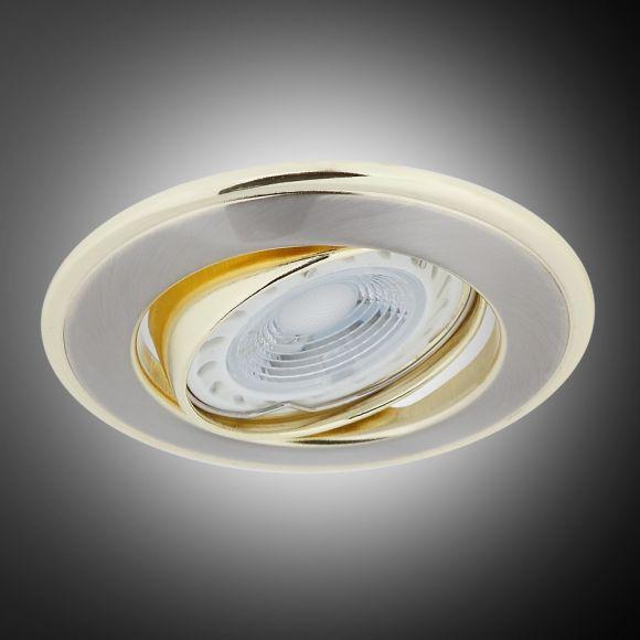 LHG LED Einbaustrahler, 1er Set, gold, rund, inkl. LED 5W GU10