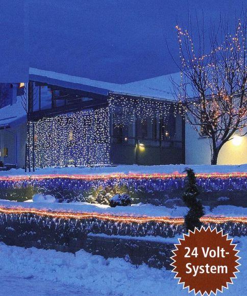 LED Lichternetz für Innen und Außen mit 100 LED warmweiß