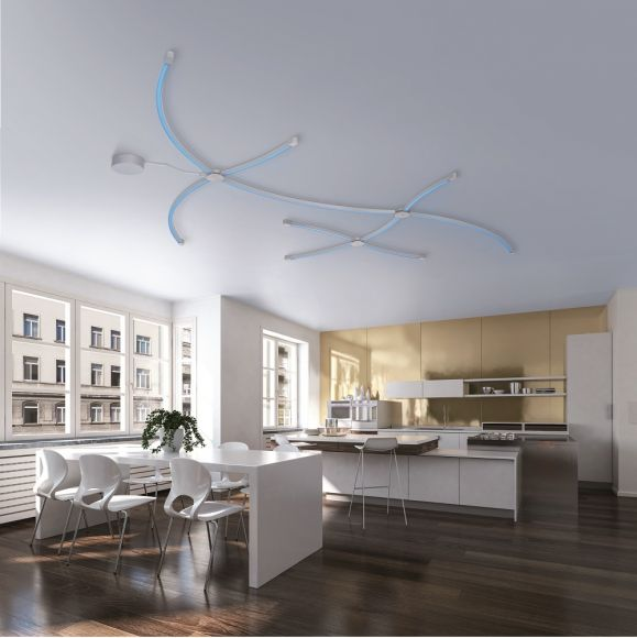 LED Lichtprofil Q-SPIDER gebogen, Smart Home, 103cm