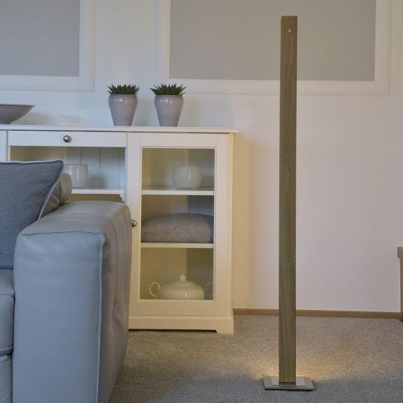 LED Stehleuchte, Massivholz, Eiche, H= 121 o. 160cm, dimm-to-warm