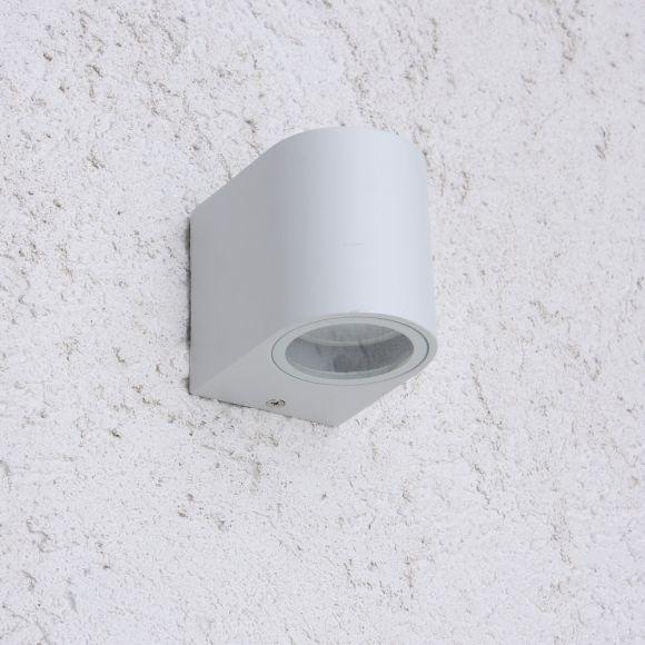 LHG LED Wandleuchte Außen, Downlight, weiß, inkl 5 W LED