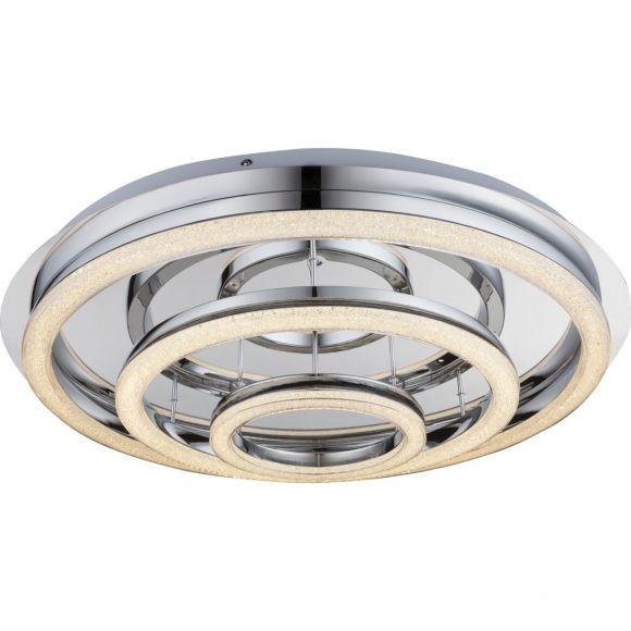 LED- Deckenleuchte mit Fernbedienung, Chrom, Ø70cm
