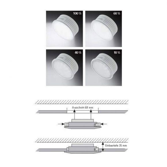 LED-Einbaustrahler in Chrom - inklusive 5 Watt LED - 4-stufig dimmbar