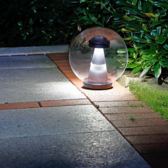 LED-Kugelleuchte transparent IP44, 25 oder 30cm