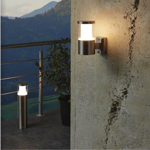 LED-Pollerleuchte in Edelstahl, Höhe 45cm