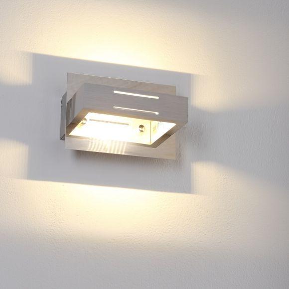 LED-Wandleuchte aus Aluminium, Chrom , 1-flammig