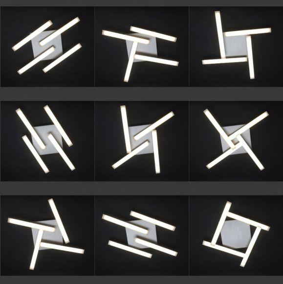 LED- Wandleuchte aus Stahl - drehbar - dimmfähig - inklusive 4x 8 Watt LED