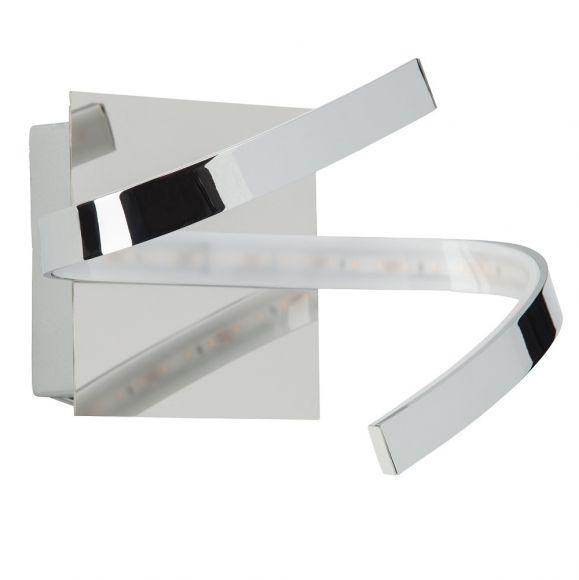LED-Wandleuchte, Kunststoff und Metall verchromt