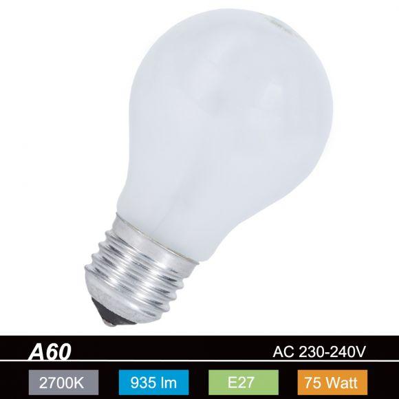 Leuchtmittel E27 A60 75 Watt Glühbirne