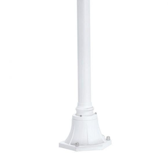 Mastleuchte, Aluminiumguss weiß, Höhe 200cm