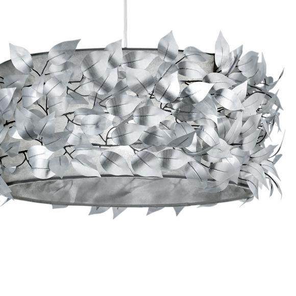 Pendelleuchte Nest aus Kunststoff - Ø 50cm in silber